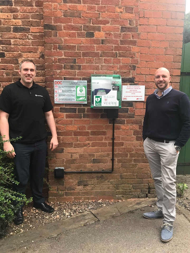 James Hardie UK Head Office is set up with new AED defribilator