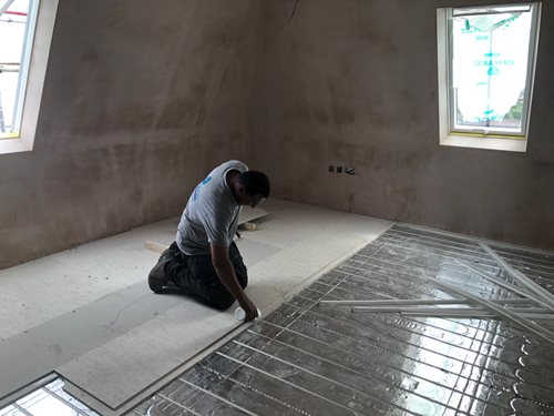 UFH system installed by High Tech Construction on latest residential flats